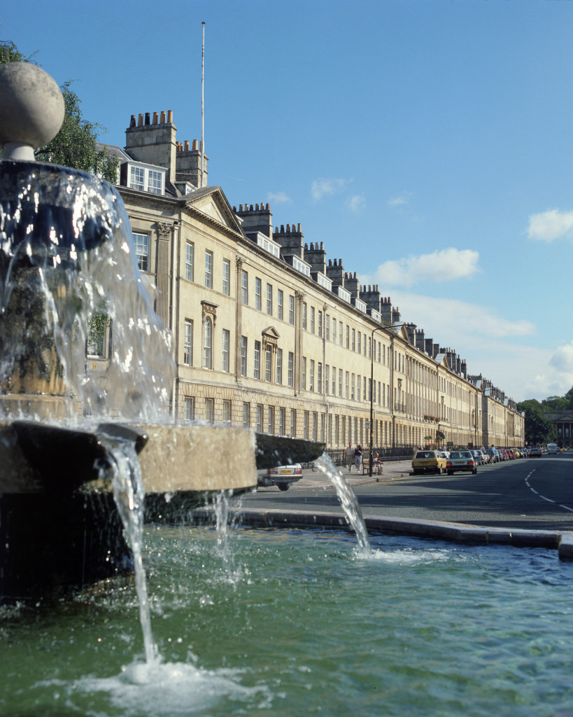 Great Pulteney Street from The Fountain at Laura Place