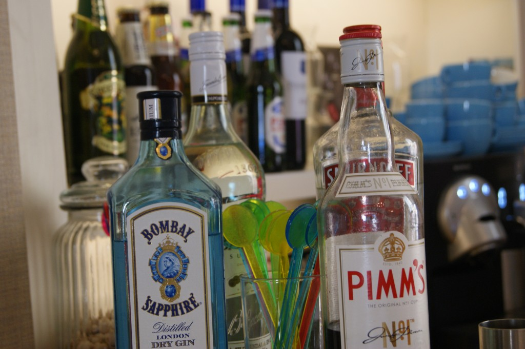 Range of bar drinks available.