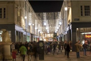 SouthGate centre Bath Xmas Lights  12/11/13 Picture  Sam Farr