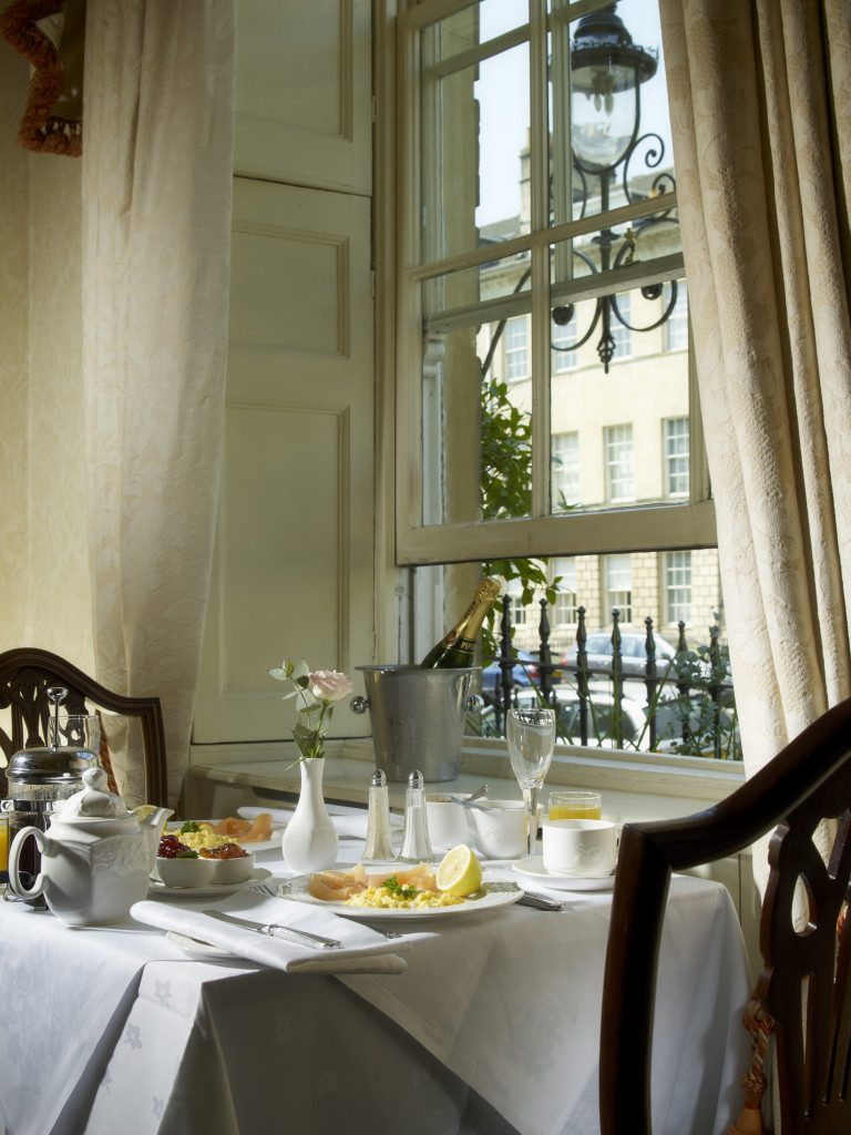Breakfast overlooking Great Pulteney Street